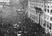 Proclamación de la Segunda República en la Puerta del Sol de Madrid, 14ABR1931