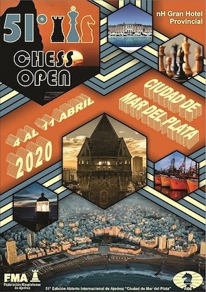 Mar del Plata: cartel 51 Torneo Ajedrez Abierto