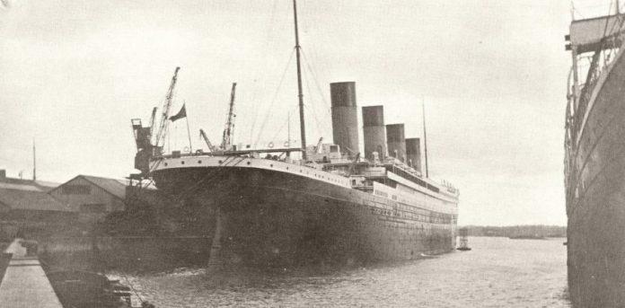 Tarjeta postal del Titanic
