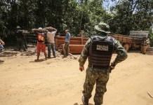 La extracción ilegal de madera en la Amazonia es un delito de difícil contención y tiende a ampliarse ante el desmantelamiento del Instituto Brasileño de Medio Ambiente, órgano oficial de combate a las violaciones de las leyes ambientales. El mismo ministro de Medio Ambiente, Ricardo Salles, es ahora sospechoso de facilitar el contrabando de madera al exterior y contribuir a la deforestación. Foto: Alex Ribeiro/Ag.Pará