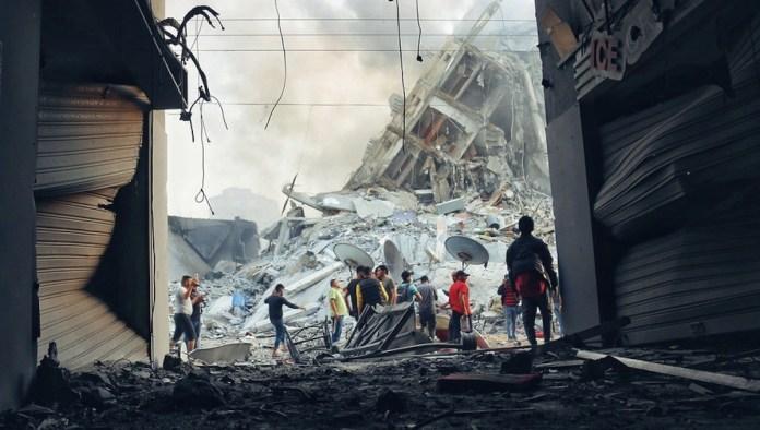 Gaza ruinas bombardeos israelíes © OCHA Mohammad Libed