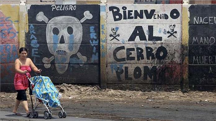 Arica Chile vertidos Bolidén