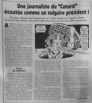 Le Canard Enchaîné sobre Dominique Simonnot