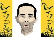 Dibujo de la situación de Raissouni hecho por su esposa cuando cumplió 86 días de huelga de hambre