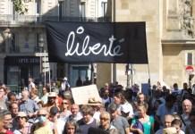 Francia, «liberté», París 14 de agosto de 2021, contra el pase sanitario