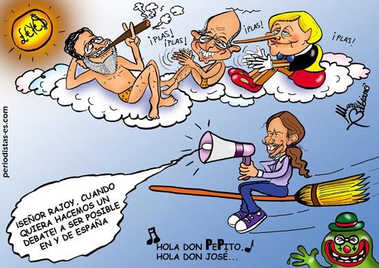 Pablo Iglesias reta a Rajoy y Mucus se inspira…
