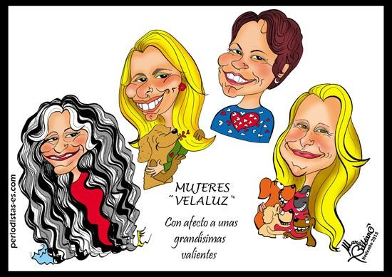 Asociación Ve-la Luz: Susana, Gloria, Sara y Celia.