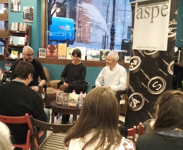 Mesa redonda, a la izquierda Cesar Brito, Marta Arias y Alberto Prieto. Foto. JCL