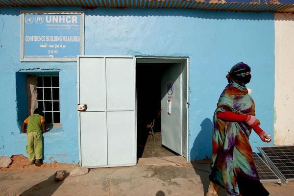 Oficina del Acnur en los campamentos de refugiados saharauis en Tinduf.
