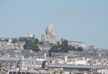 Adriana Bianco: en París, la colina de la Sacre Coeur vista desde la terraza del centro Pompidou
