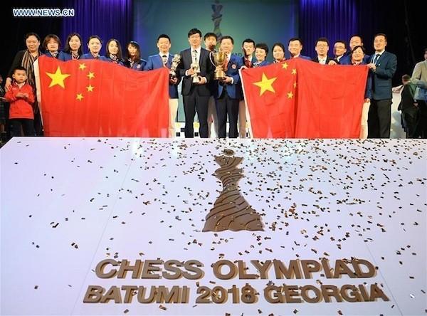 Olimpiada de Ajedrez 2018: equipos chinos