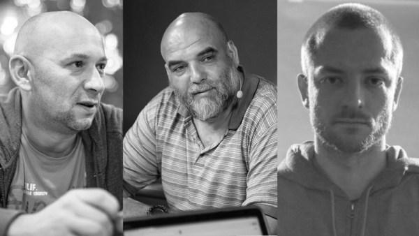 Alexander Rastorguev, Orhan Dzhemal y Cyril Radchenko