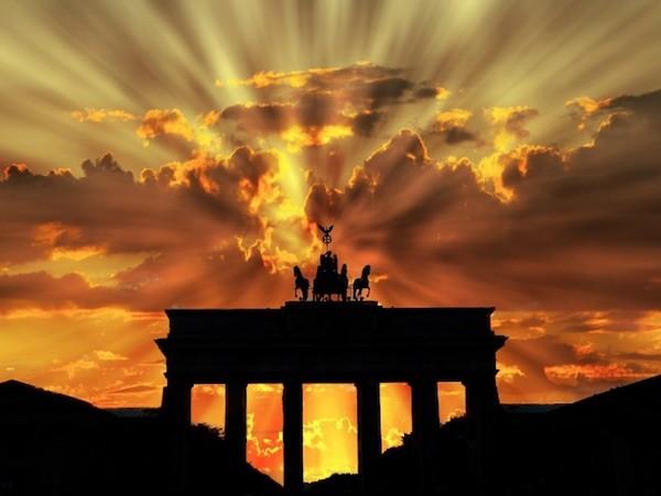 Berlin puesta de sol