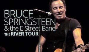 "Cartel de la gira ""River tour"" de Bruce Springsteen"