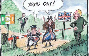 Caricatura publicada en el diario 'The Irish News' (Belfast, Irlanda del Norte).
