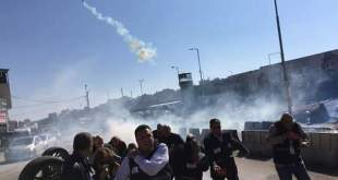 Gases israelíes contra la Federación Internacional de Periodistas
