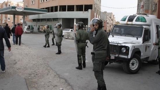 Fuerzas de Seguridad marroquíes desplegadas en El Aaiún