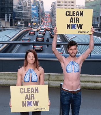 Greenpeace Bruselas pulmones
