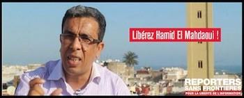 Campaña de Reporteros sin Fronteras en favor del periodista marroquí condenado.