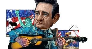 Johnny Cash por Xulio Formoso