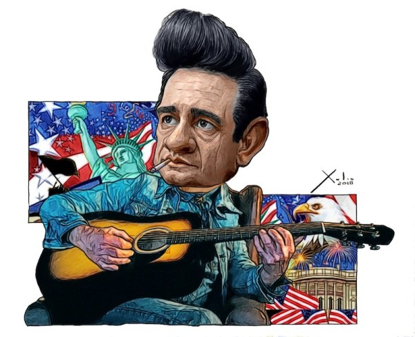 Johnny Cash por Xulio Formoso
