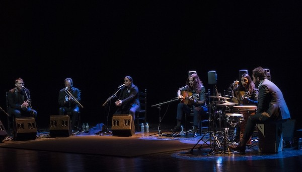 Kiki Cortiñas, Morenito de Íllora, Saúl Quirós, Tomatito, José del Tomate y Piraña. Foto David Mudarra