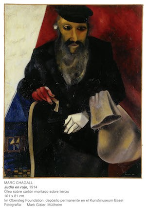 Marc Chagall (1887–1985); Der Jude in Rot; 1914