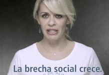 María Adanez hace campaña contra la brecha social en España