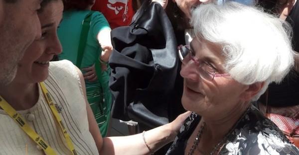 Martine Landry durante el proceso en 2017