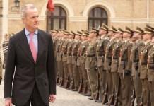 Pedro Morenés en su etapa de ministro de Defensa de España