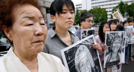 Protestas de familiares de las mujeres coreanas prostituidas por las tropas de Japón en la Segunda Guerra Mundial