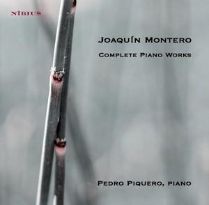 Cubierta del CD dedicado a Joaquín Montero, con Pedro Piquero, al piano, por Nibius