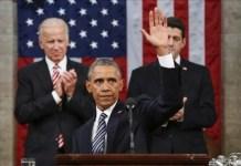 El presidente de Estados Unidos, Barack Obama, durante su intervención este martes en la sede del gobierno. Foto: ANDES/AFP