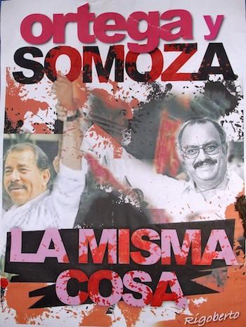 Ortega y Somoza la misma cosa cartel
