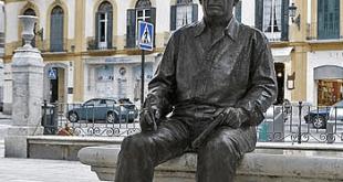 Homenaje a Pablo Picasso en la Plaza de la Merced, Málaga.