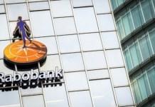 Rabobank, logo sobre la fachada