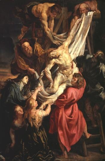 Rubens boceto descendimiento, 1611