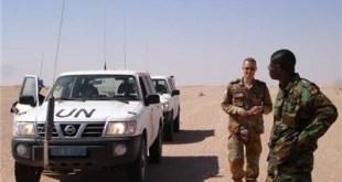 Patrulla de Minurso en el Sáhara