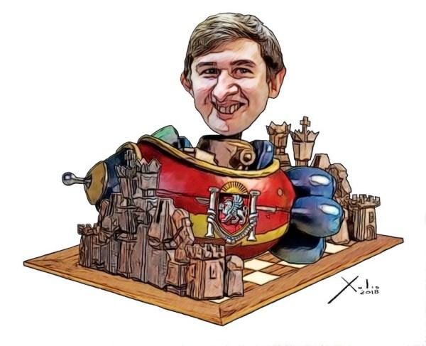 Sergei Karjakin por Xulio Formoso