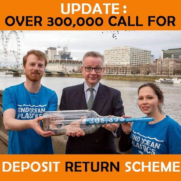 Campaña en Reino Unido para implantar Sistemas de Depósito y Retorno