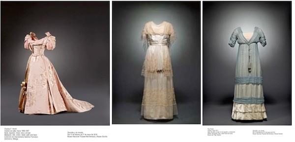 Diseños de Worth, Jeanne Paquin y Paul Poiret