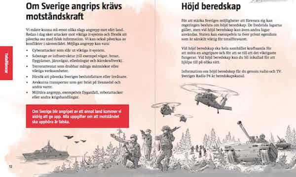 Suecia preparados para la guerra