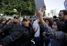 Tunez, protestas en enero de 2018