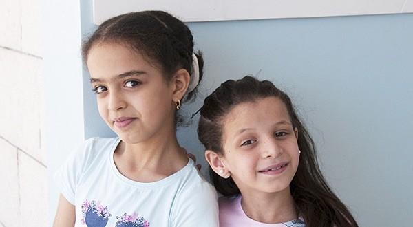 Menores palestinas atendidas por la Unrwa en Gaza