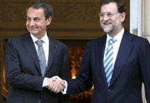 Rodríguez Zapatero y Mariano Rajoy en agosto de 2011
