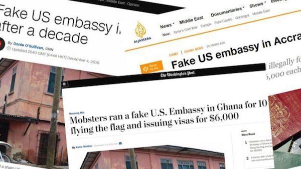 Repercusión mediática de la falsa oficina diplomática de EEUU en Accra.