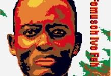Cartel de campaña de Amnistía Internacional por la libertad en Camerún de Fomusoh Ivo Feh y sus amigos Afuh Nivelle Nfor y Azah Levis Gob