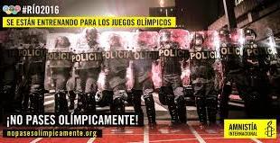Cartel de la campaña de Amnistía Internacional contra la violencia policial en Brasil