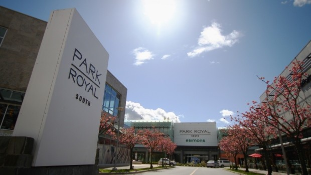 Entrada del Park Royal Shopping Centre en Vancouver.