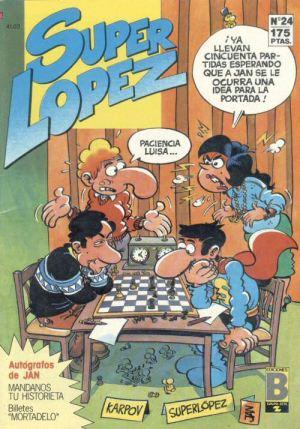 Portada de Superlópez alusiva al ajedrez.